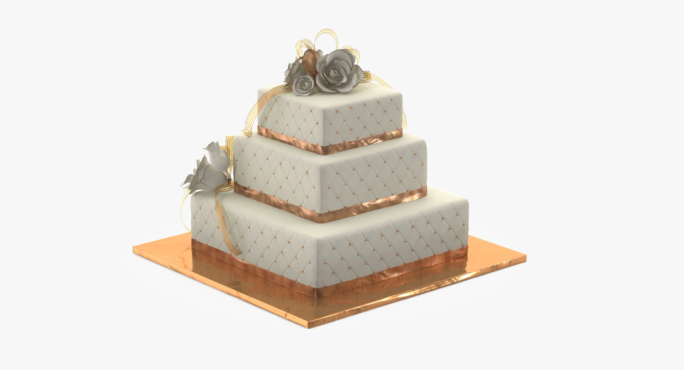 Square Wedding Cake Tornado Studios