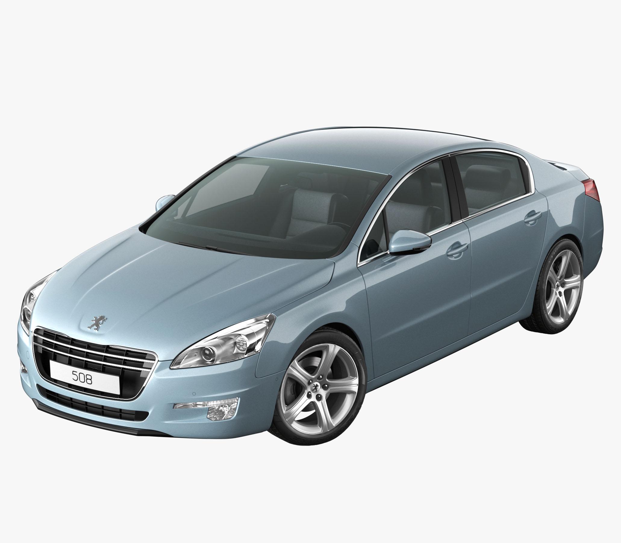 Peugeot 508 Blue 3D Model