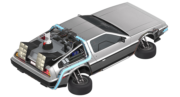 Delorean Fying 3D Model