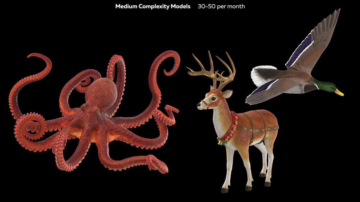 Medium Complexity 3D Models