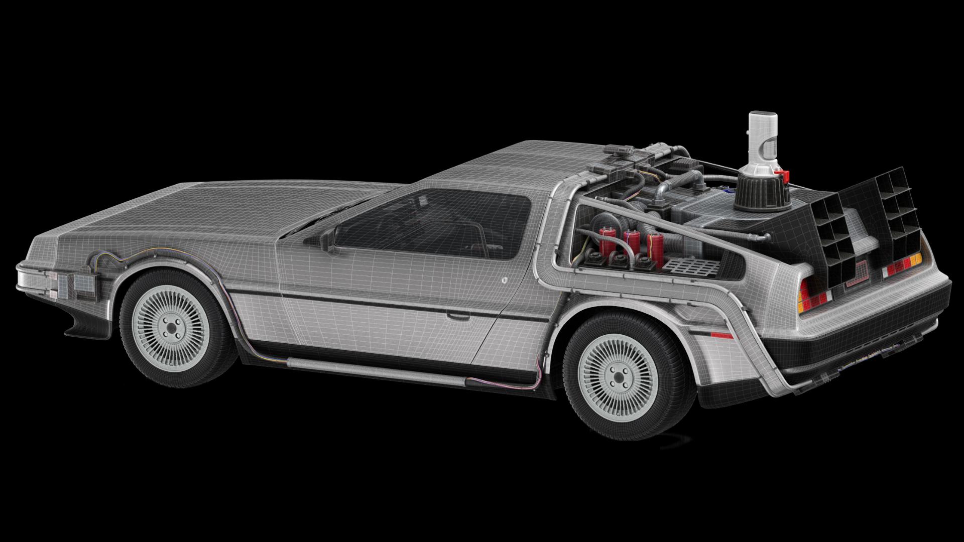 DeLorean Back to the Future 3D Model