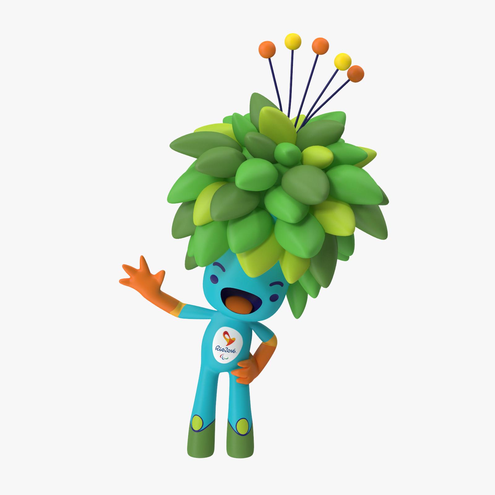 Olympics Rio Mascot Tom 3D Model
