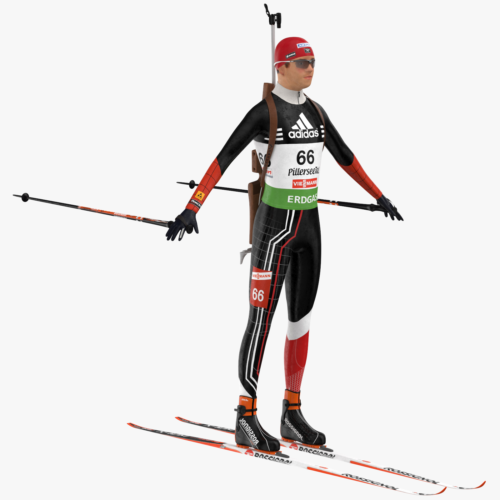 Biathlon Player 3D Model