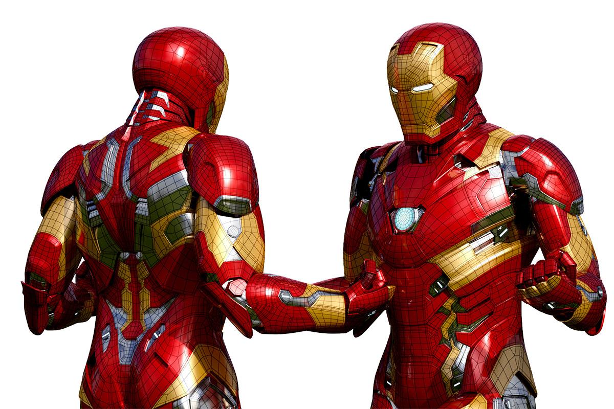 Iron Man Comparisson 3D Model