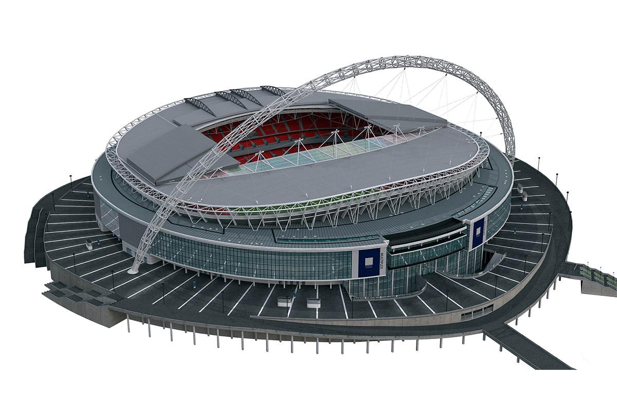 Low Poly Webley Stadium 3D Model