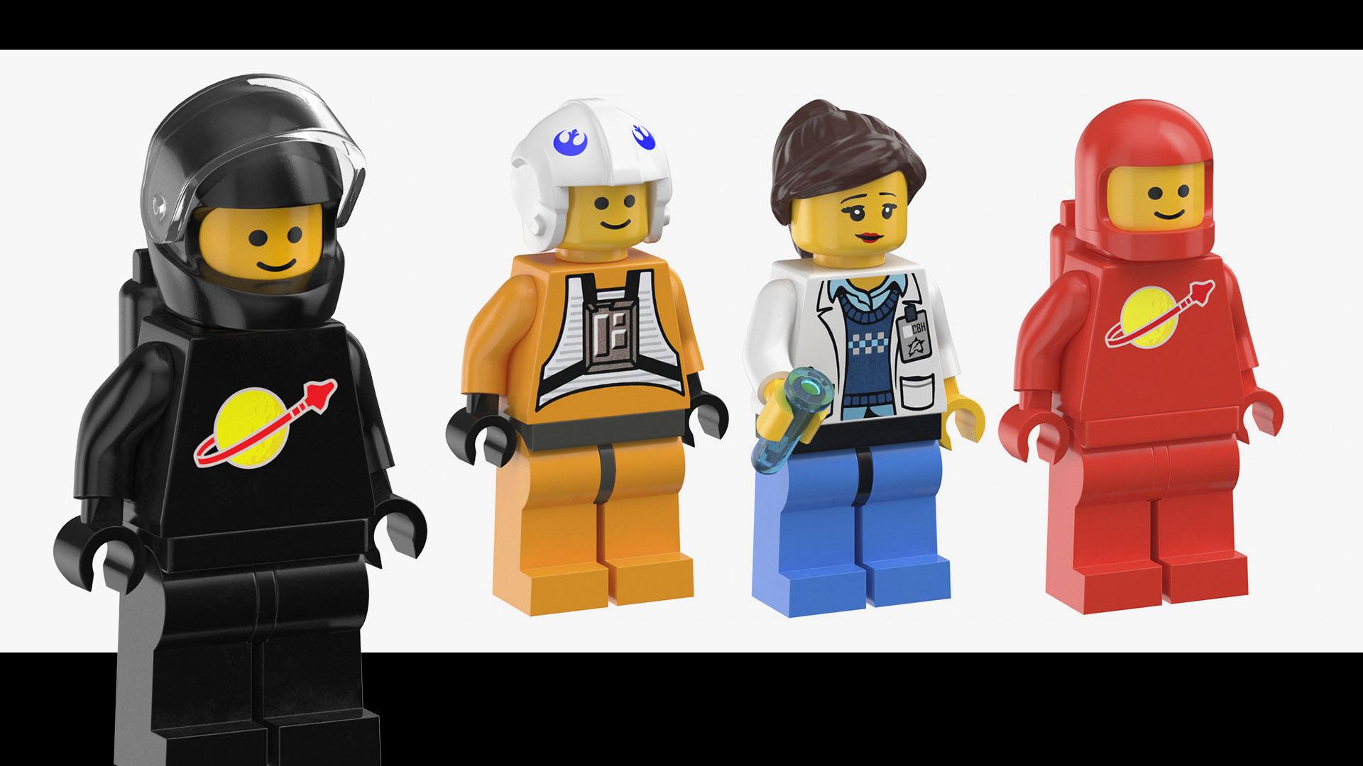 Lego Characters 3D Models