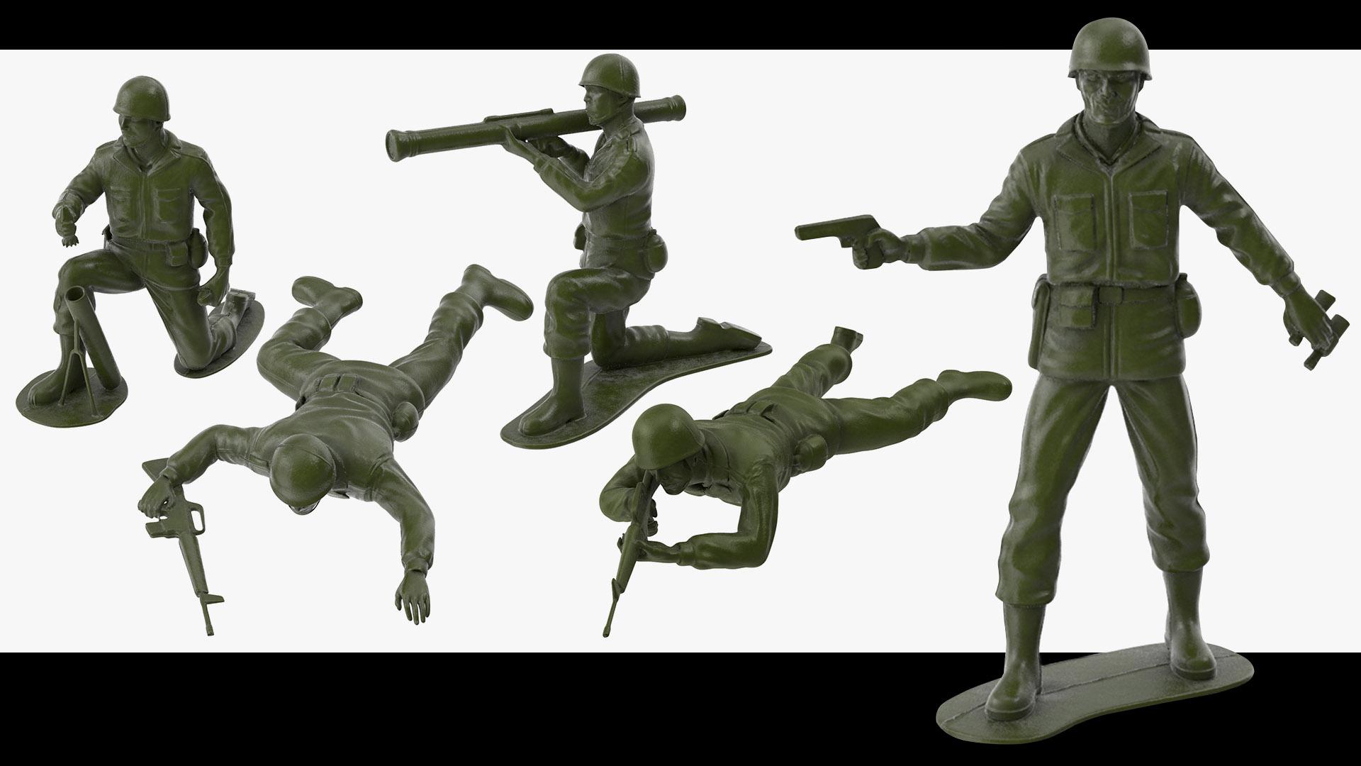 Plastic Toy Soldiers 3D Models