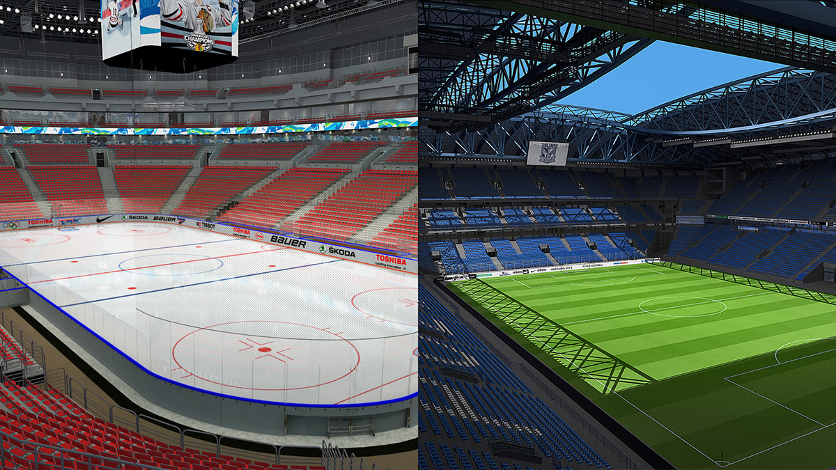 Stadium and Arena 3D Models