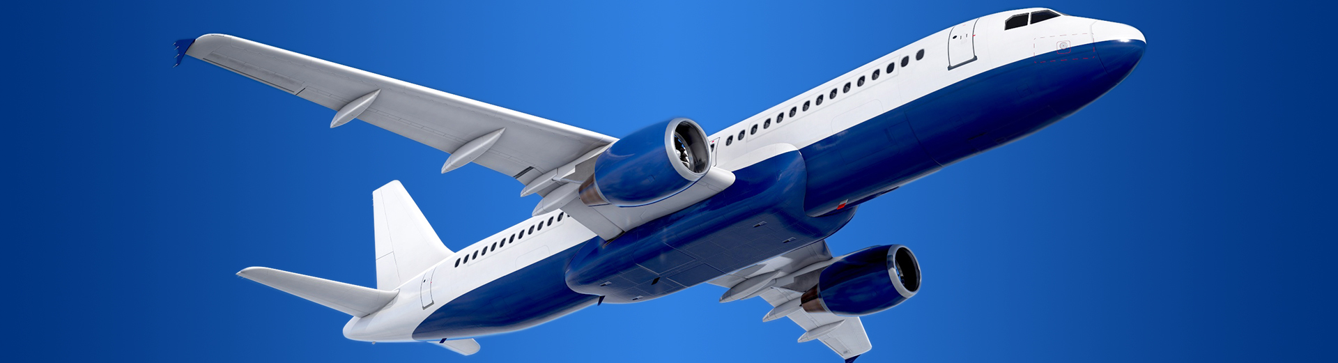Airliner Flying 3D Model