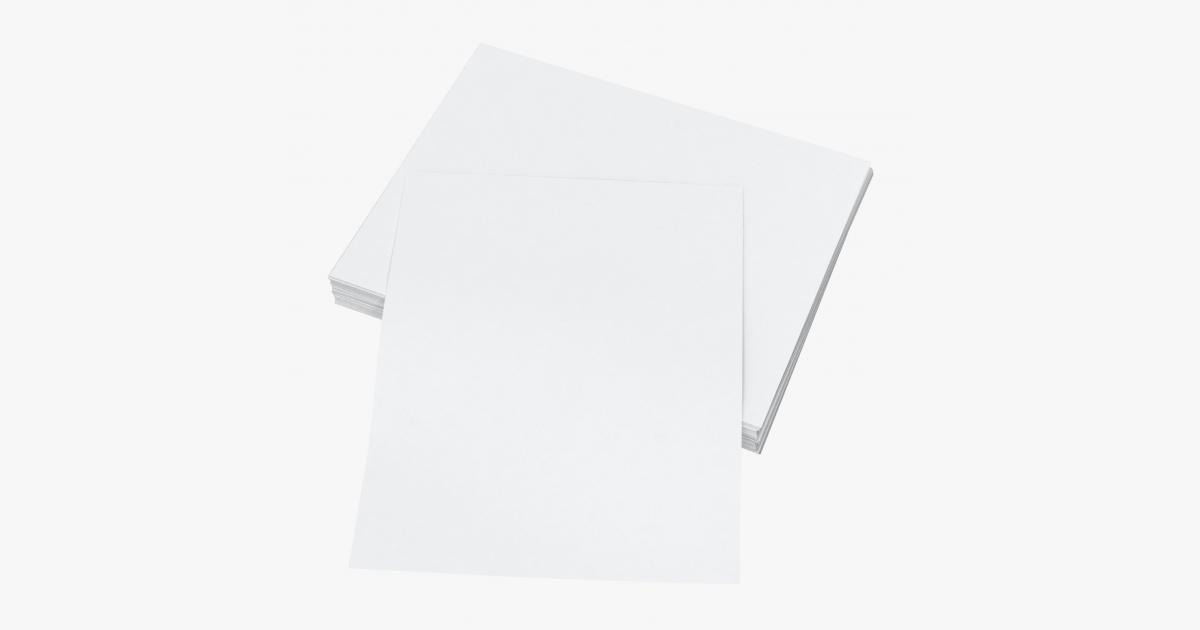Small Stack of Paper Sheets 03