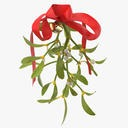 Misltetoe Sprig with Ribbon - thumb 1
