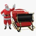 Santa and Sleigh 02 - thumb 1