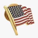 American Flag Pin - thumb 1