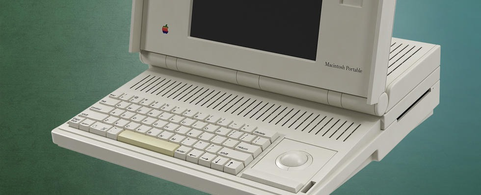 Apple Macintosh Portable Closeup