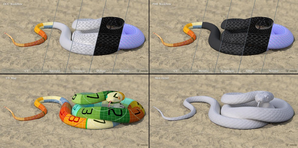 Black Snake Textures Preview