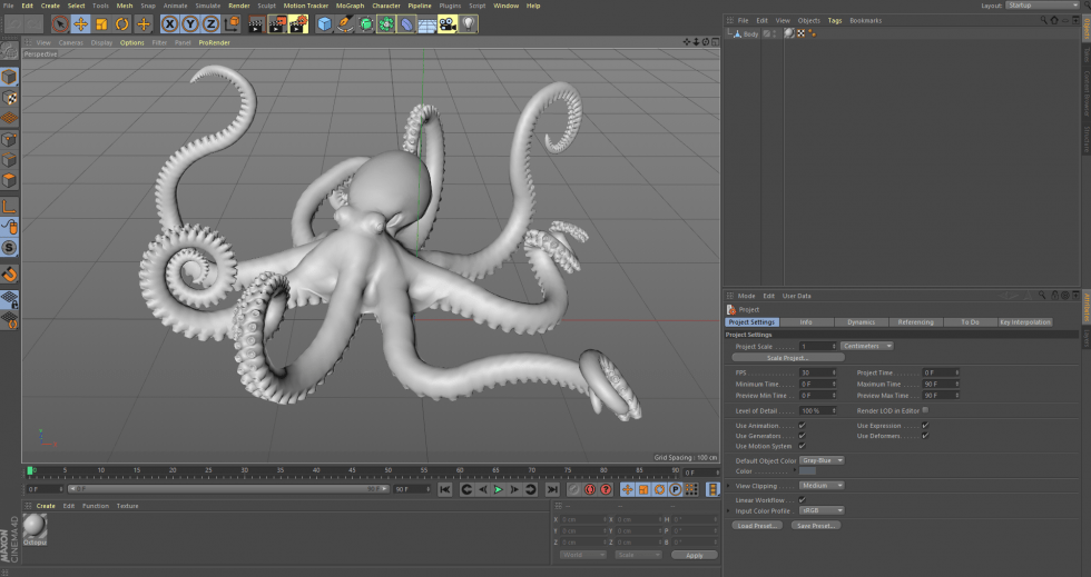 Maxon Cinema 4D Interface