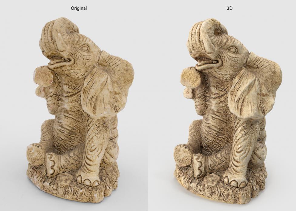 3D Digitalization Elephant Decoration Statue