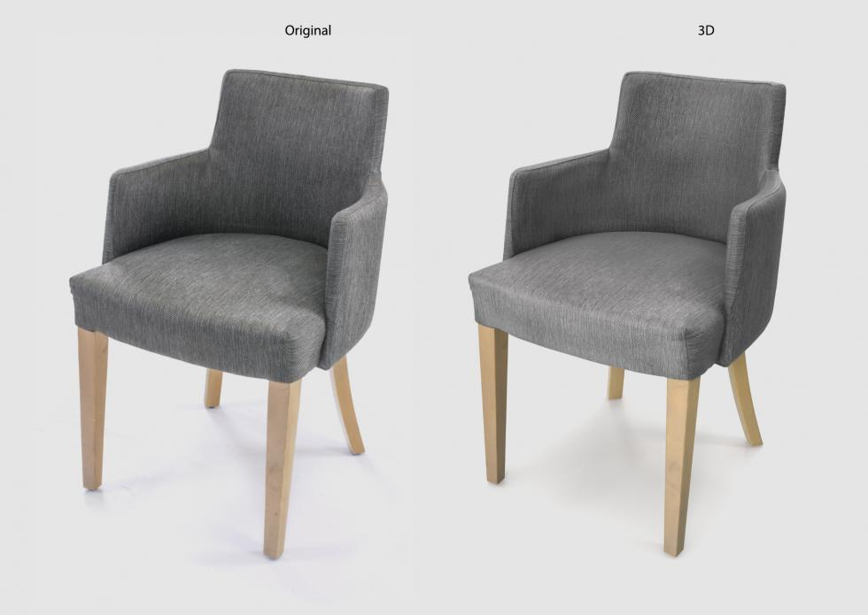 3D Digitalization Lounge Chair
