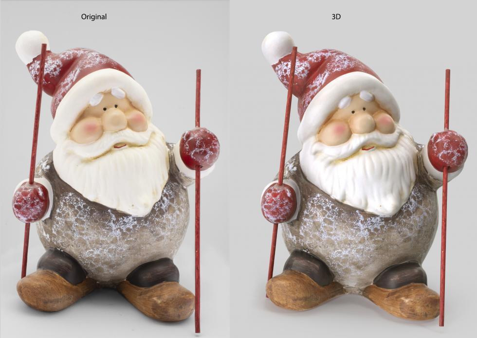 3D Digitalization Santa Clause Decoration Statue