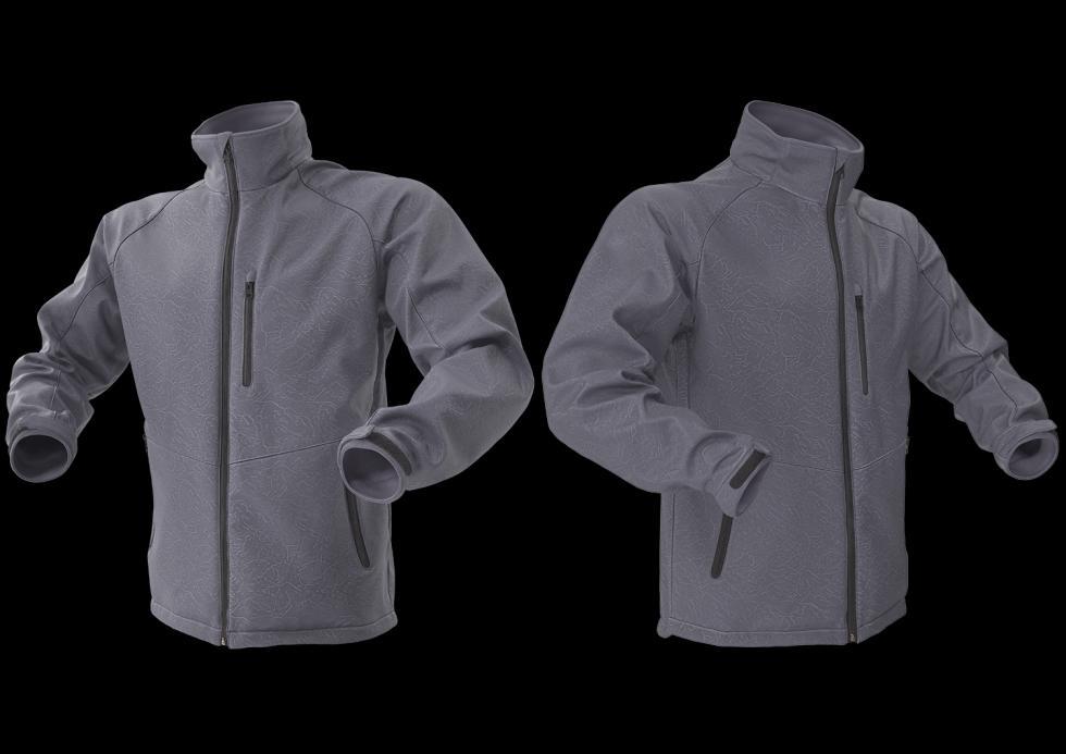 3D Digitalization Winter Male Jacket