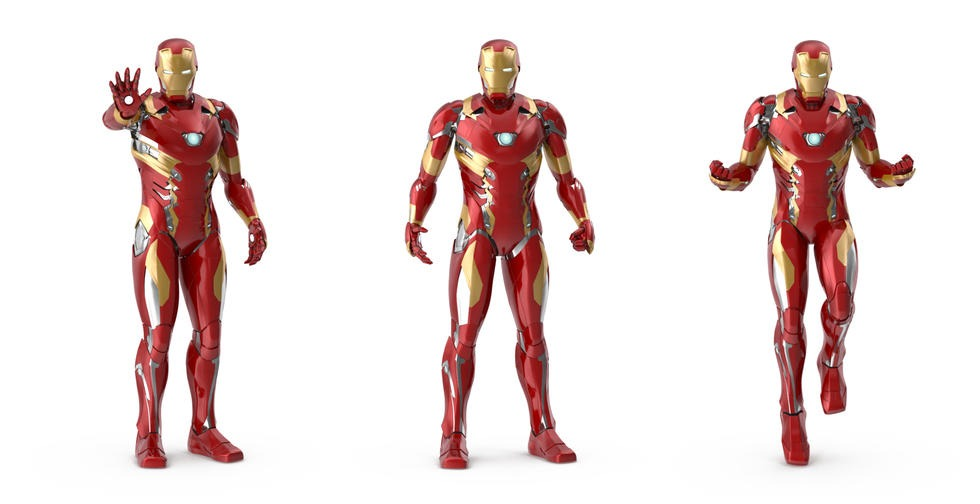 Iron Man Poses