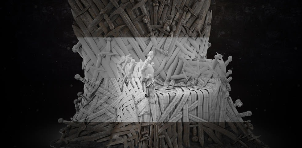 Iron Throne Wireframe