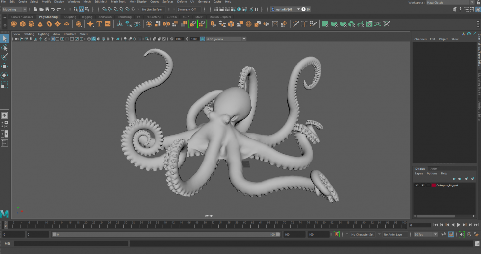 Autodesk Maya Interface