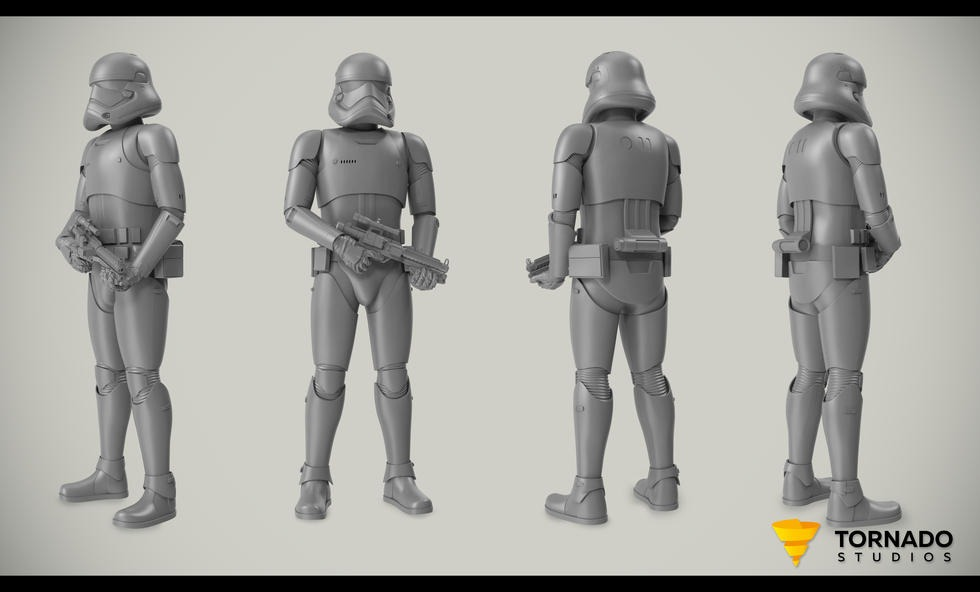 Storm Trooper Wireframe