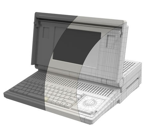 Apple Macintosh Portable Wireframe