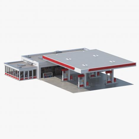 Petro Station 3D Model
