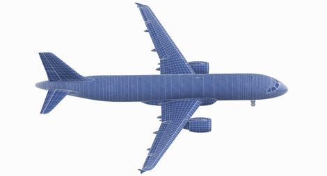 Airliner A320 Wireframe