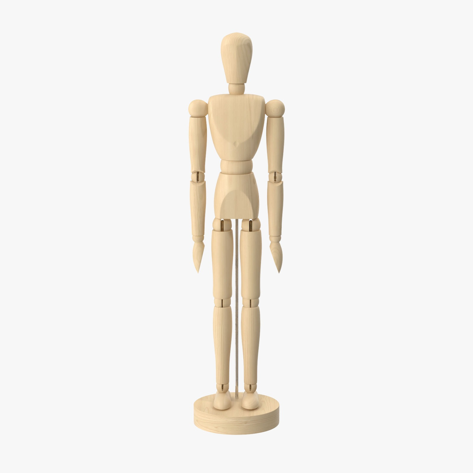 Wooden Mannequin Rigged