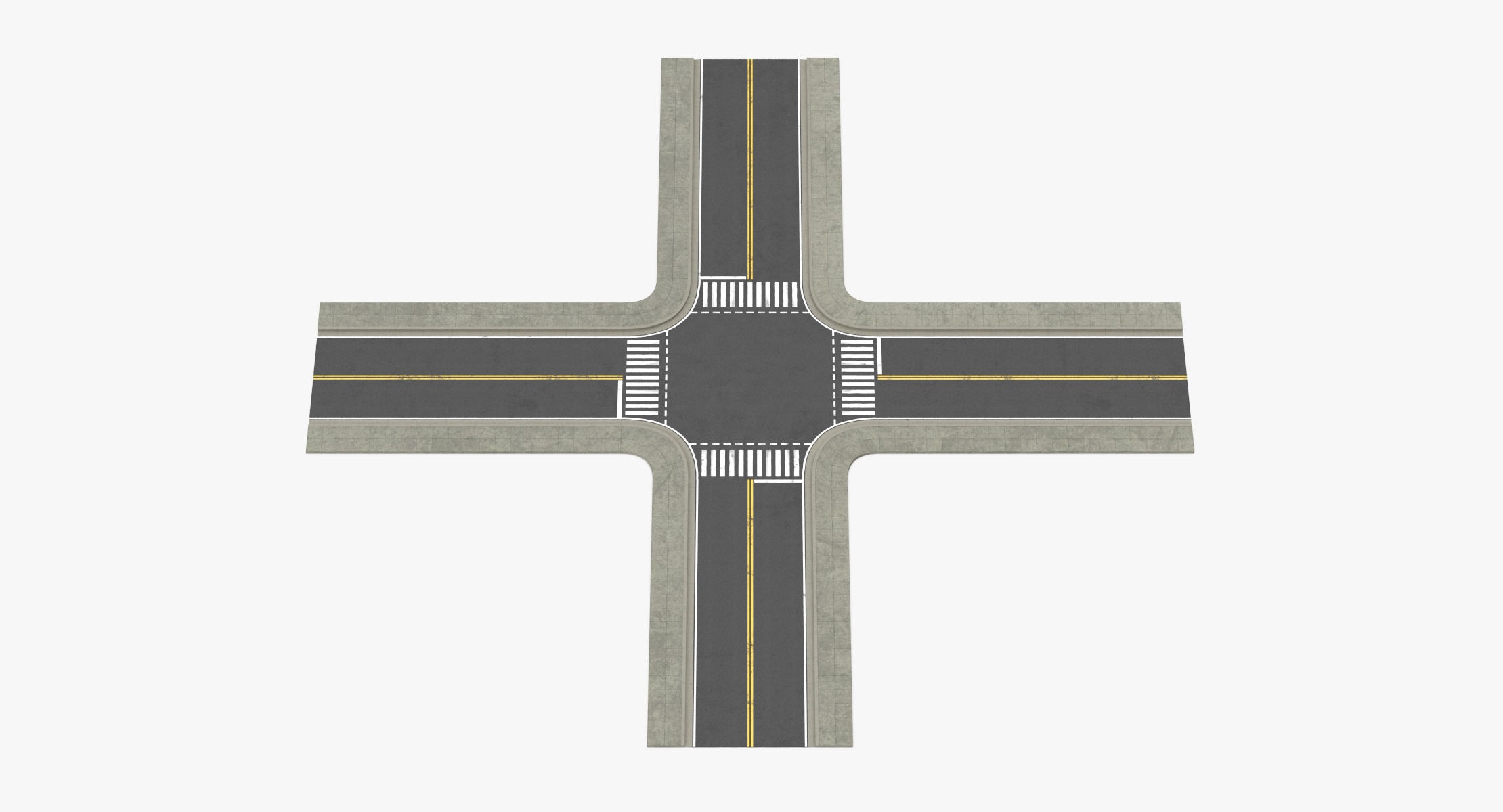 2 Lane Street Intersection - reel 1