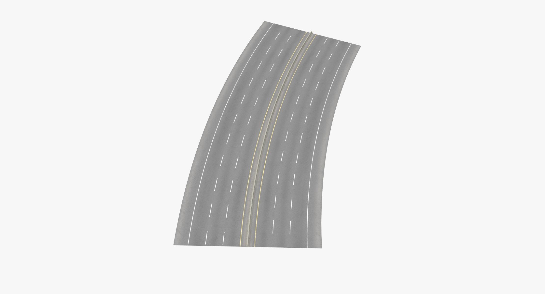 6 Lane Highway 22.5 Degree Turn - 3 Each Way) - reel 1