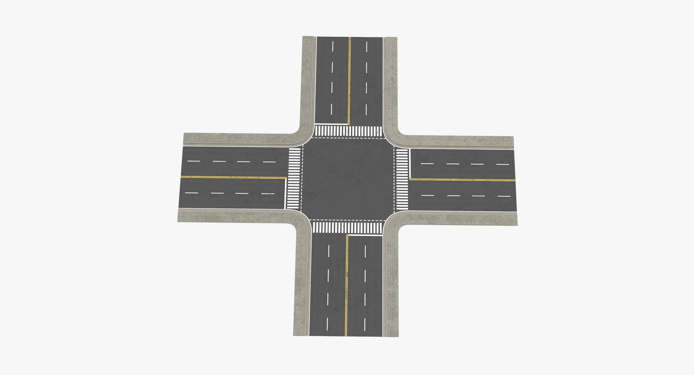 4 Lane Street Intersection - reel 1