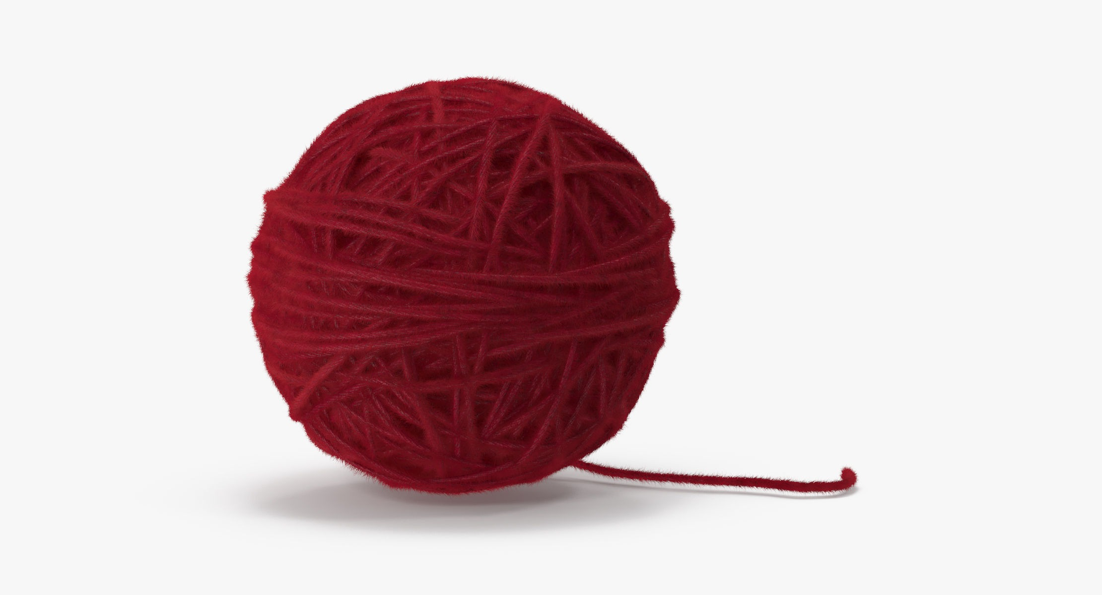 Ball of Yarn Red - reel 1