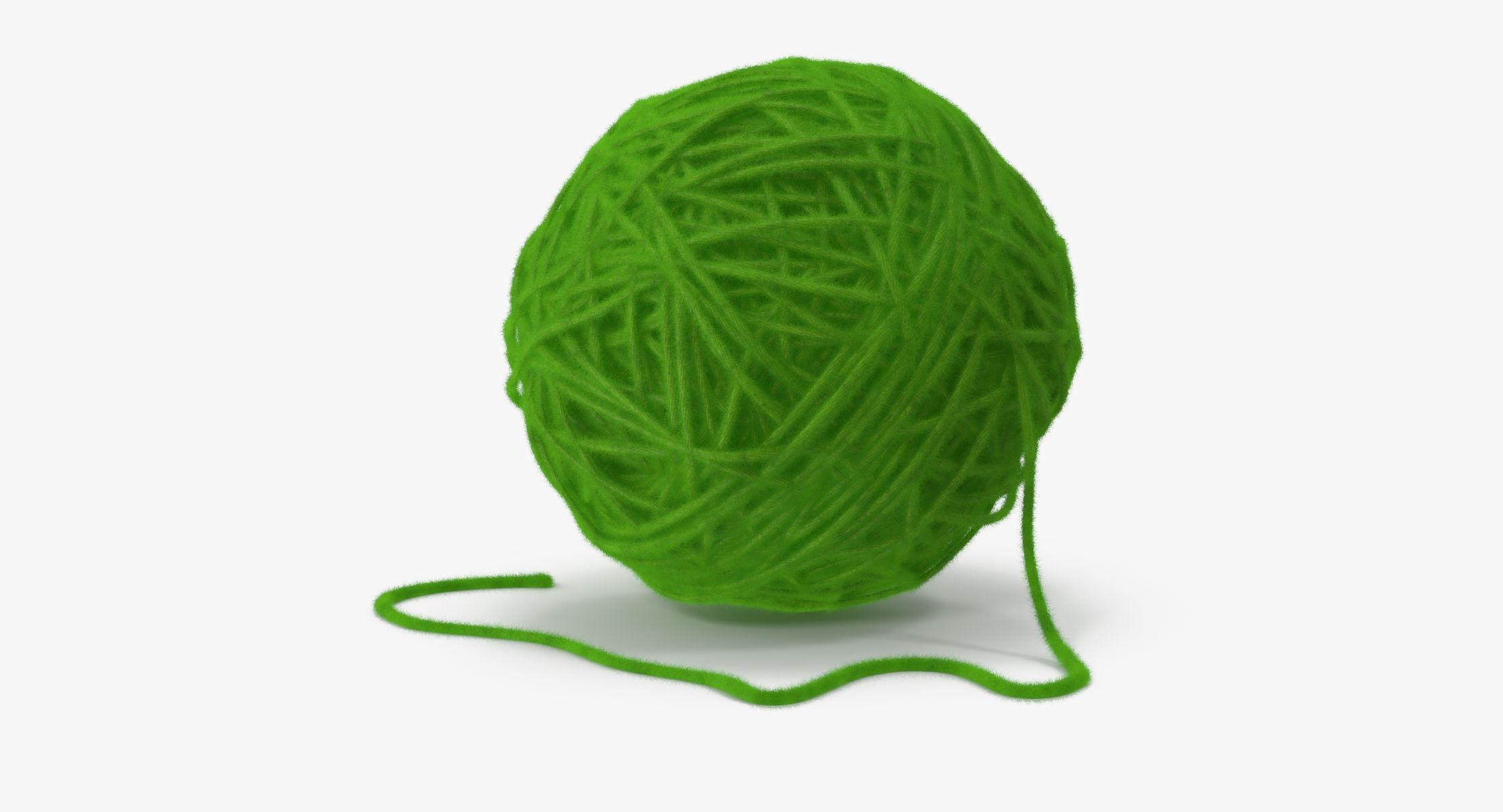 Ball of Yarn Green - reel 1