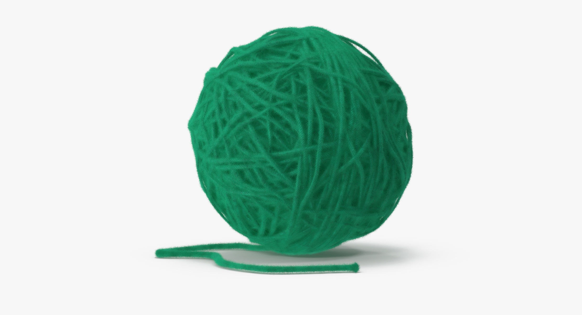 Ball of Yarn Dark Green - reel 1