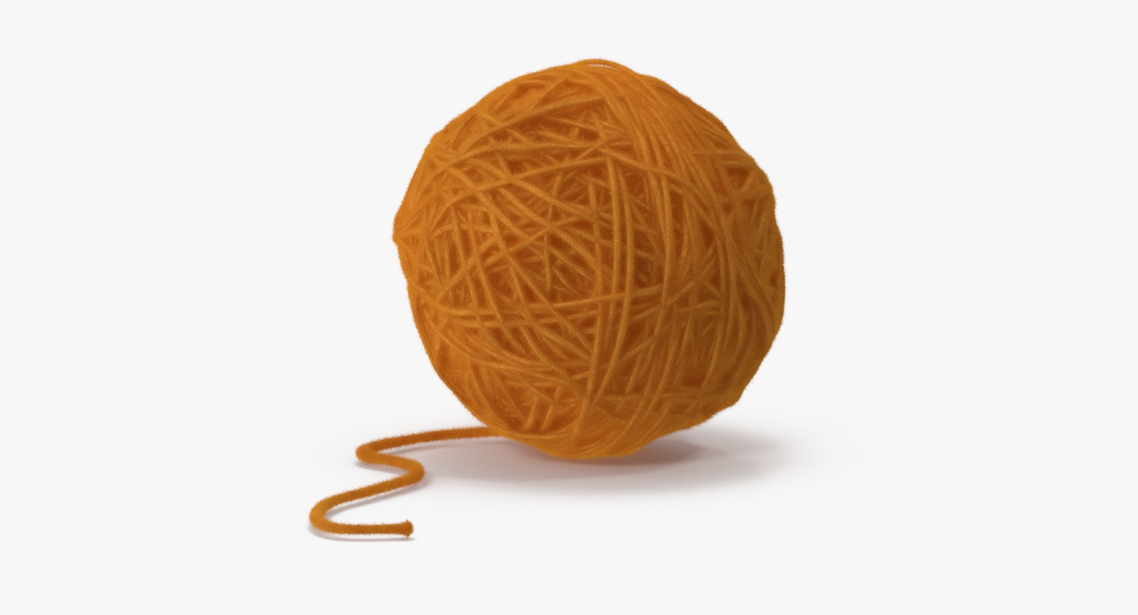 Ball of Yarn Yellow - reel 1