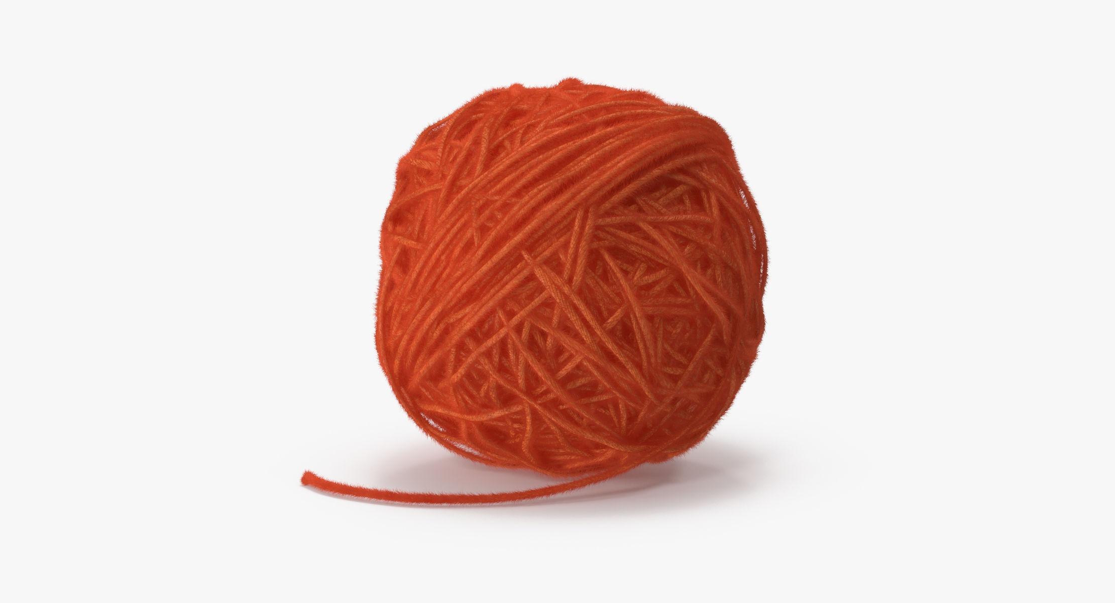 Ball of Yarn Orange - reel 1