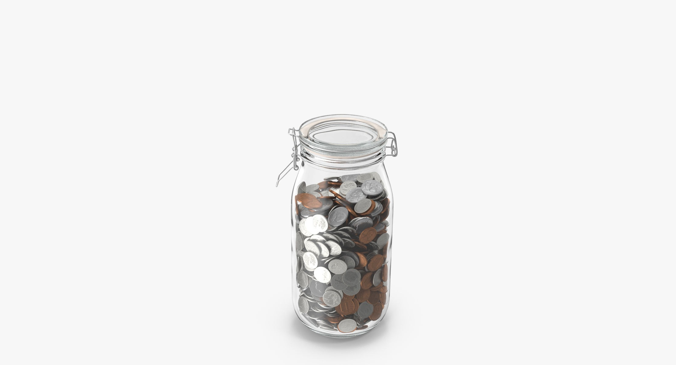 Glass Jar With Currency 02 Dollar - reel 2