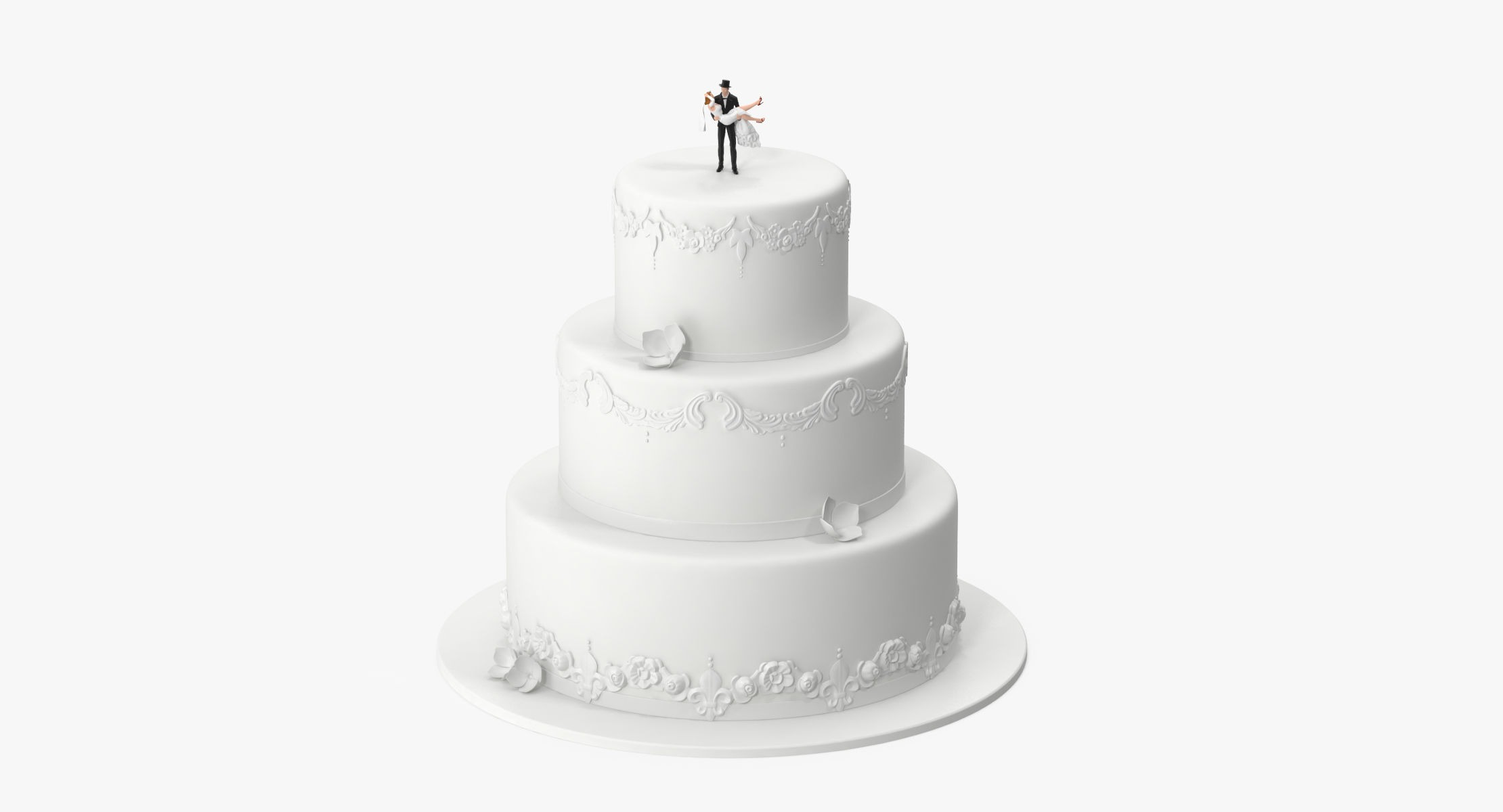 Round Wedding Cake With Miniatures 03 - reel 1