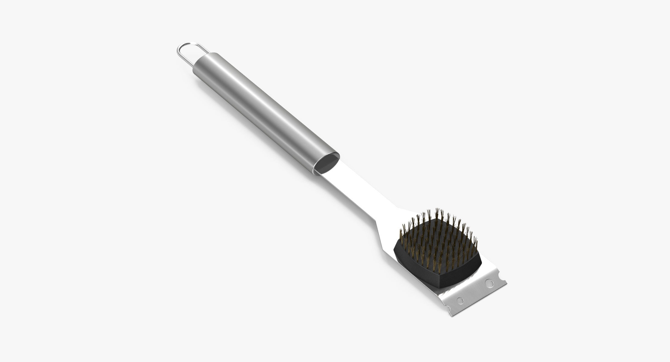 Stainless Steel BBQ Tool - Cleaning Brush - reel 1