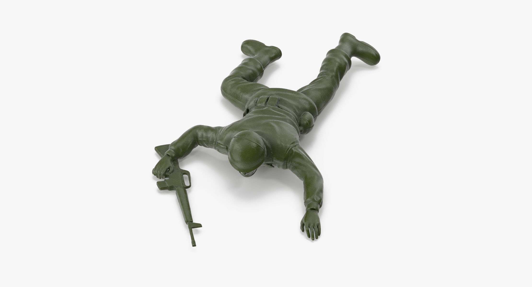 Plastic Toy Soldier 03 - Crawling - reel 1
