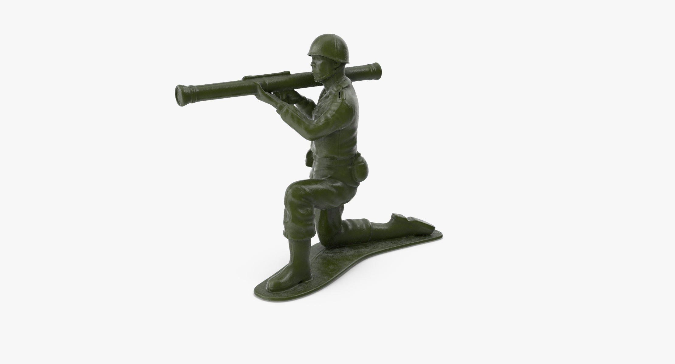 Plastic Toy Soldier 02 - Bazooka - reel 1