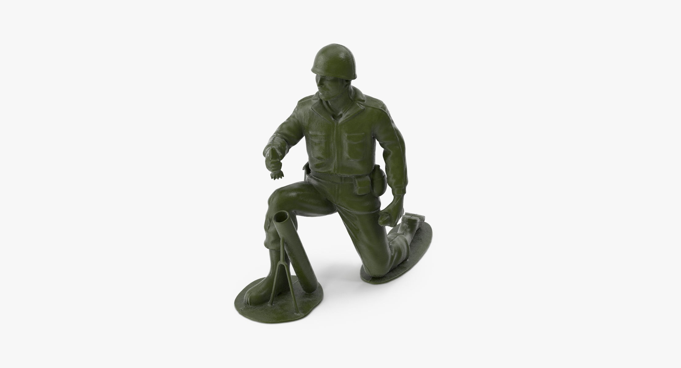 Plastic Toy Soldier 04 - Mortar - reel 1