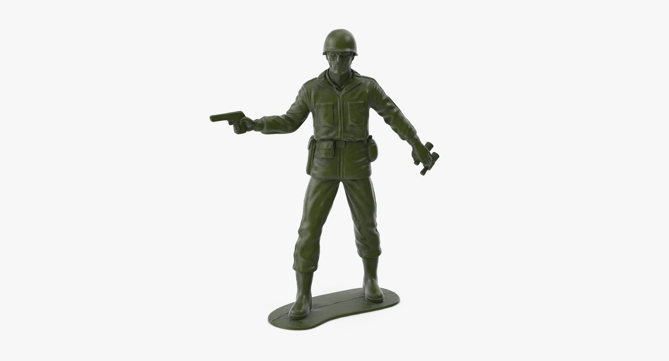 Plastic Toy Soldier 05 - Pistol - reel 1