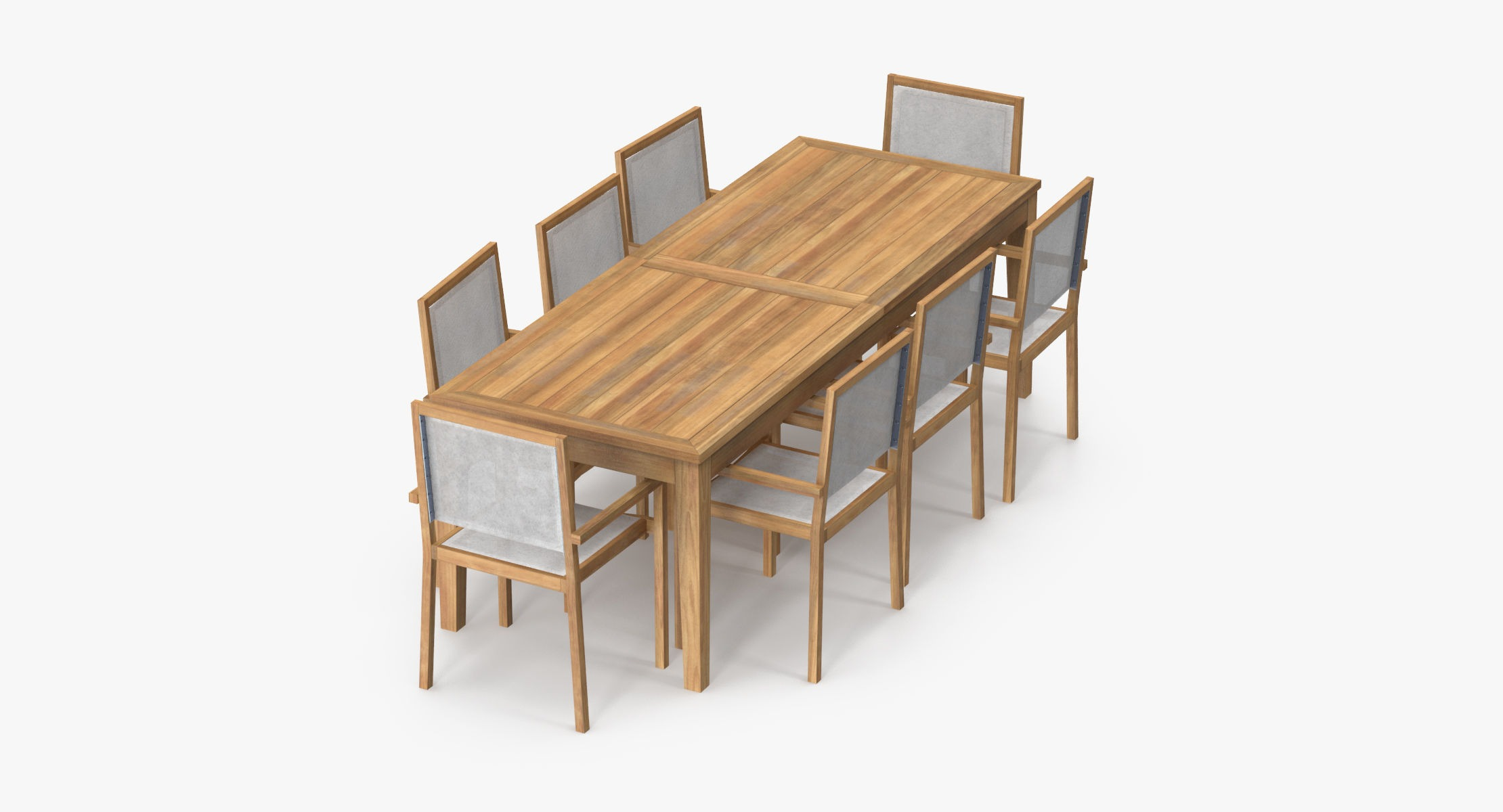 Patio Dining Table Rectangle and 8 Chairs - reel 1