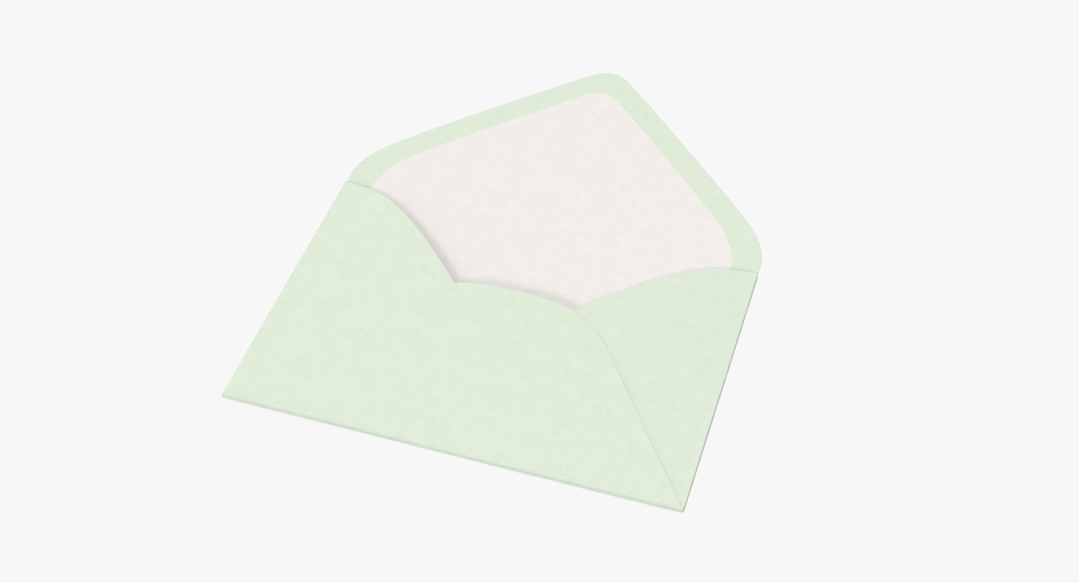 Baby Shower Envelope Open - Green - reel 1