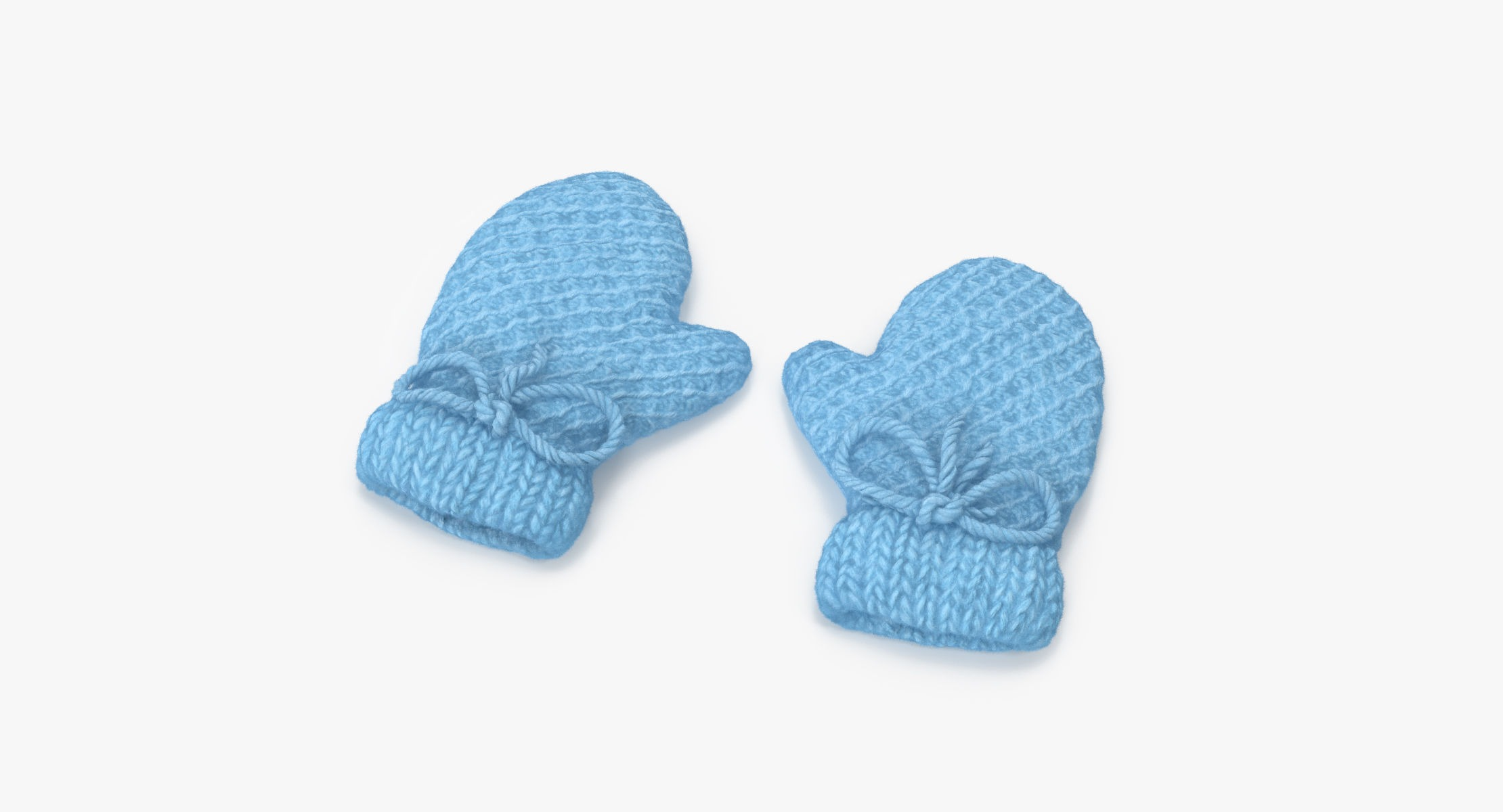 Newborn Mittens 01 Blue - reel 1